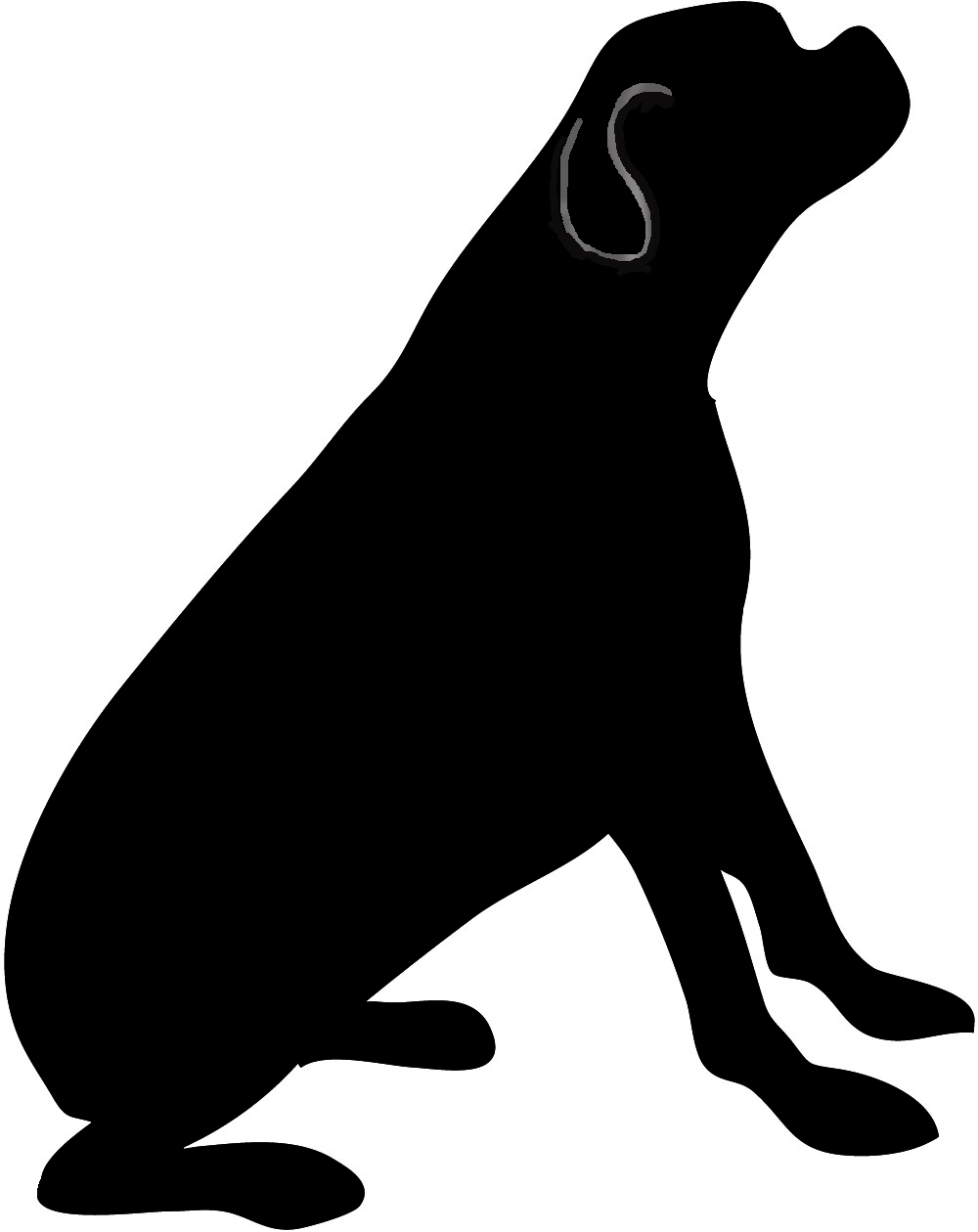 rottweiler png black and white transparent rottweiler black and rh pluspng com rottweiler clipart black and white Black and White Cartoon Bulldog