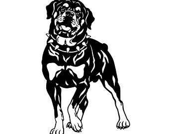 Rottweiler PNG Black And White