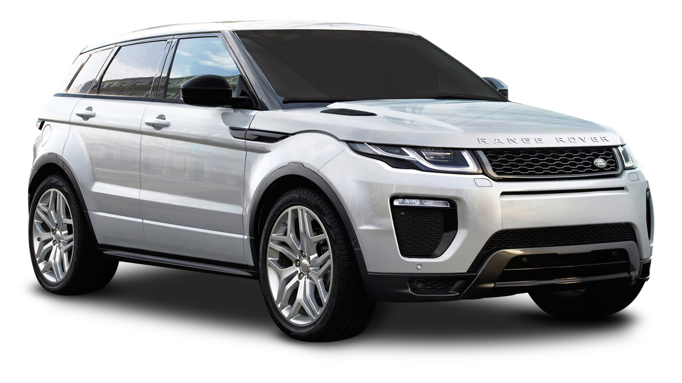 Silver Range Rover Evoque Car PNG Image