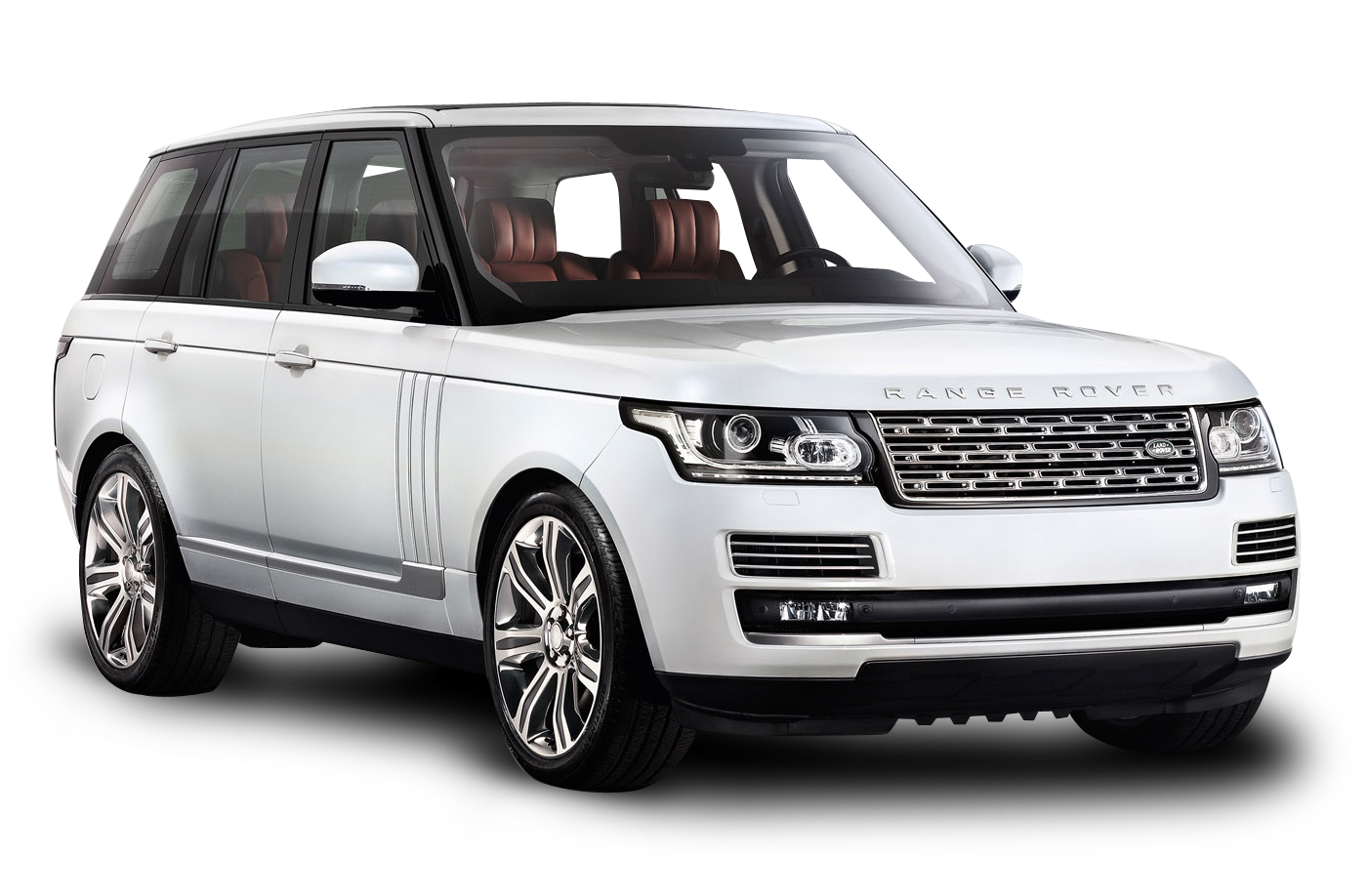 White Range Rover Car PNG Image