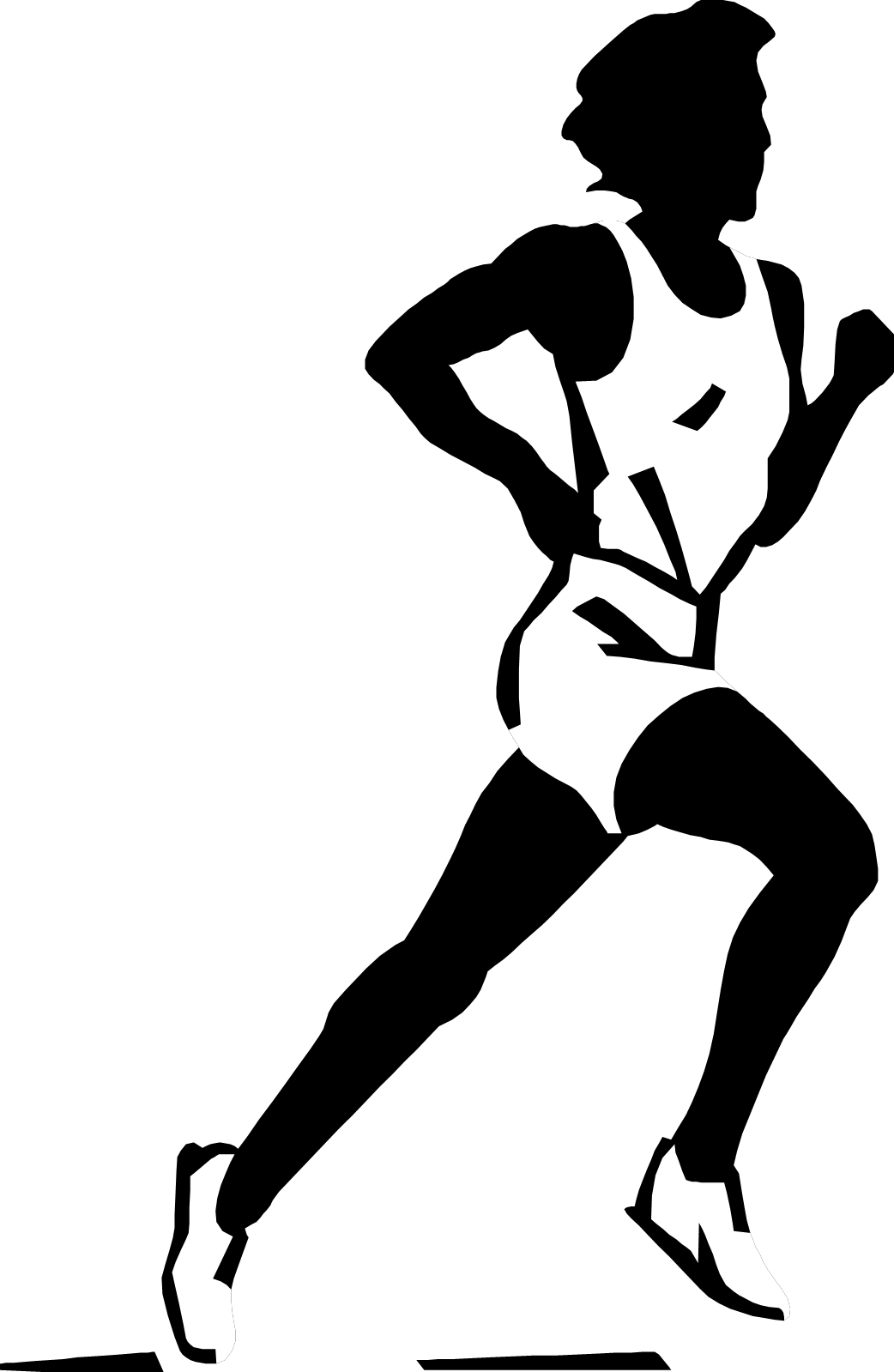 Collection of Run PNG Black And White. | PlusPNG (1042 x 1599 Pixel)