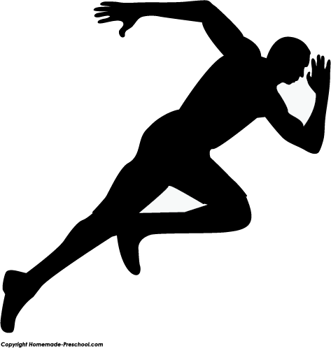 Run PNG Black And White - 70968