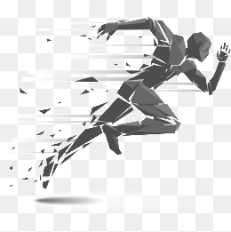 Run PNG Black And White - 70970