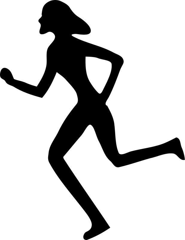 Run PNG Black And White - 70962