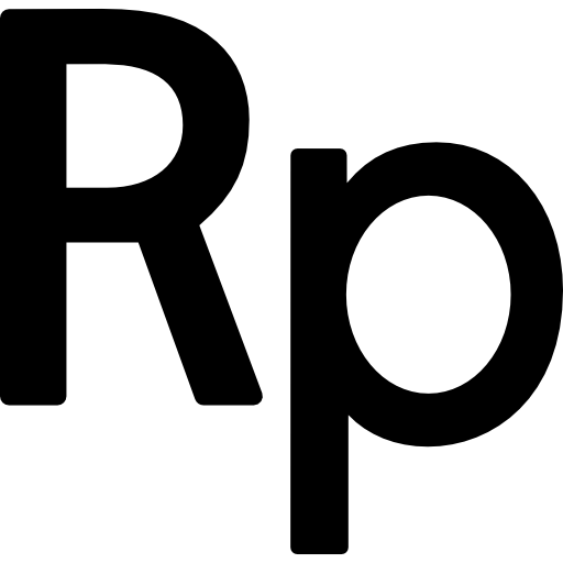 Indonesia rupiah currency symbol free icon - Rupiah PNG