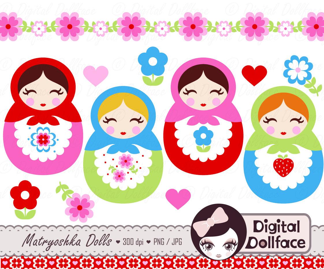 Babushka doll clipart - Russian Doll PNG HD