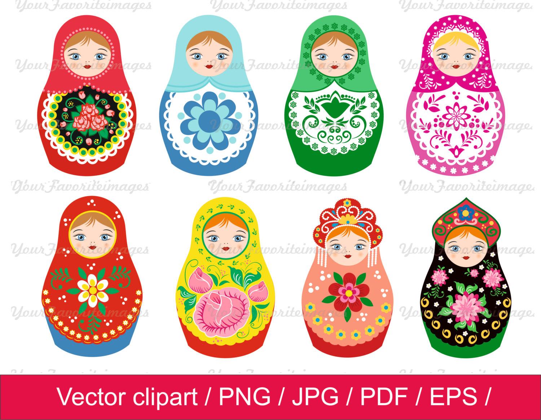 Matryoshka clip art Etsy - Russian Doll PNG HD