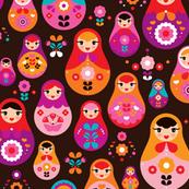 matryoshka russian doll kids pattern - Russian Doll PNG HD
