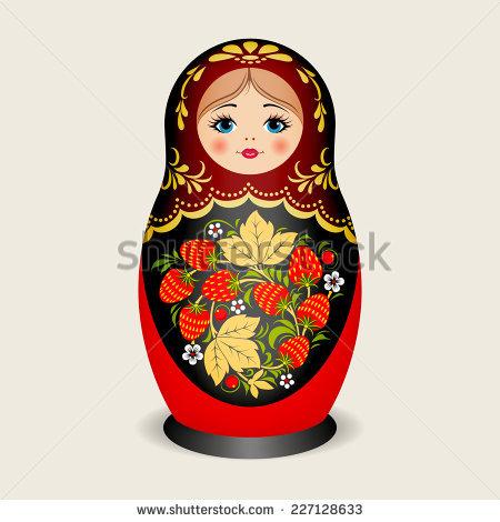 Russian dolls - matryoshka. Vector illustration - Russian Doll PNG HD