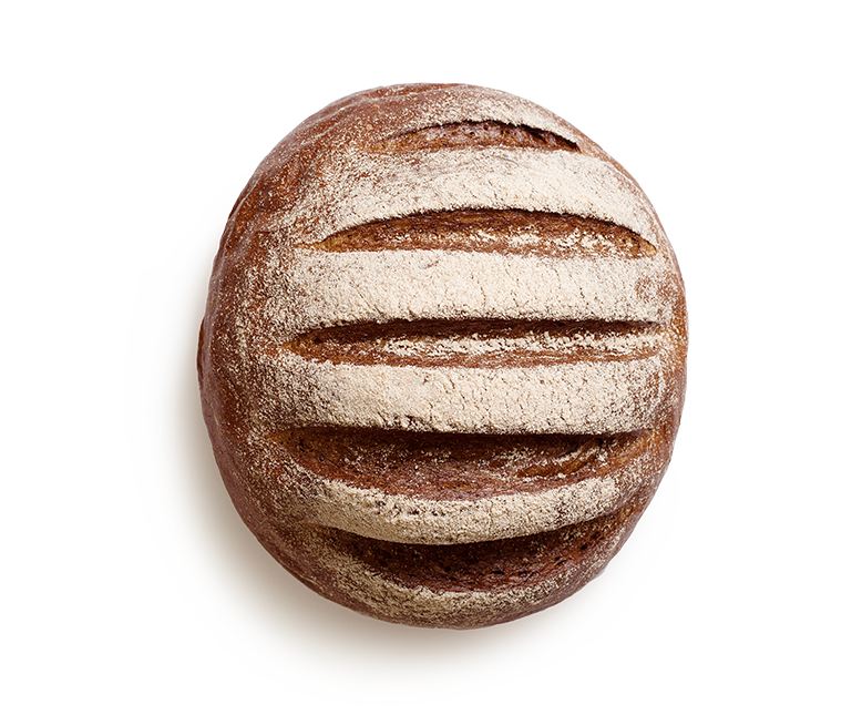Our Bavaria bread is a flavourous malt bread made of rye sourdough. It  looks like fertile soil, it is black with the sides shiny with oil. - Rye Bread PNG