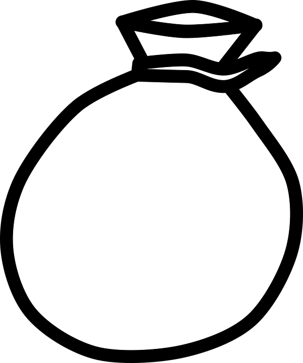Sack Black And White PNG - 162180