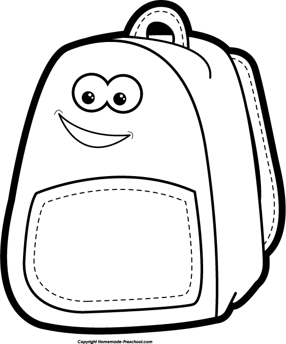 sack clipart black and white