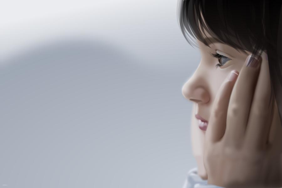 Sad Girl by roeltz PlusPng.com  - Sad PNG HD