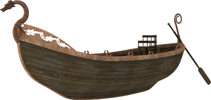 3D Barge by zememz PlusPng.com  - Sailboat PNG HD