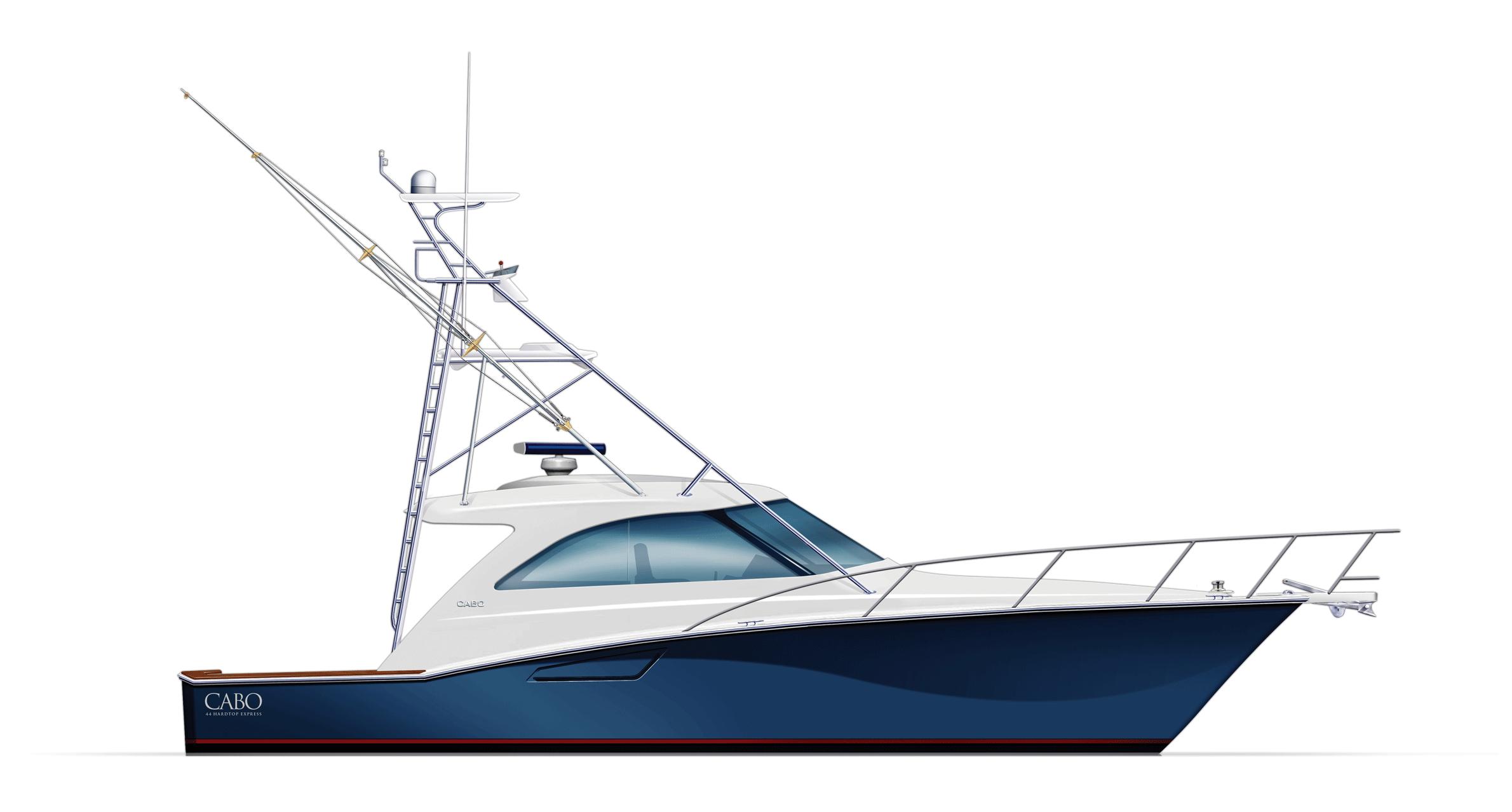 Cabo Yachts Boat PNG - Sailboat PNG HD