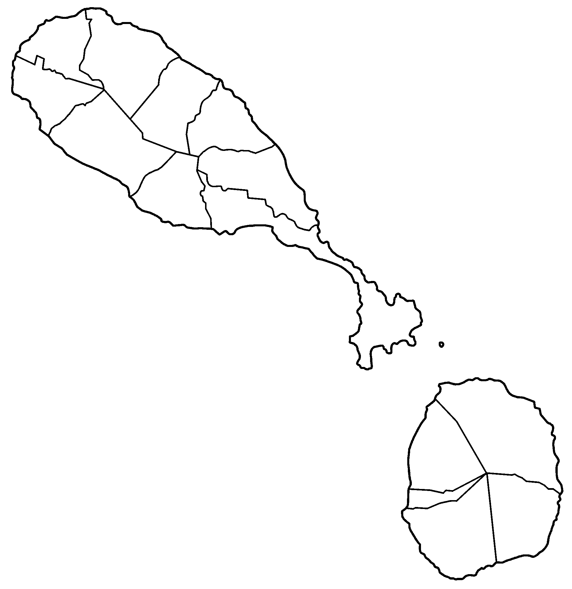 File:Saint Kitts and Nevis blank.png - Saint Kitts And Nevis PNG