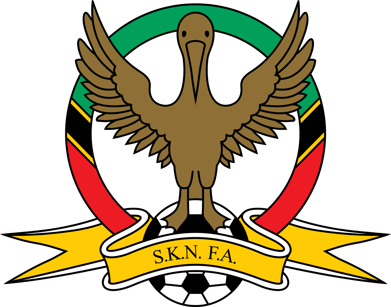 File:Saint Kitts u0026 Nevis Football Association.svg - Saint Kitts And Nevis PNG