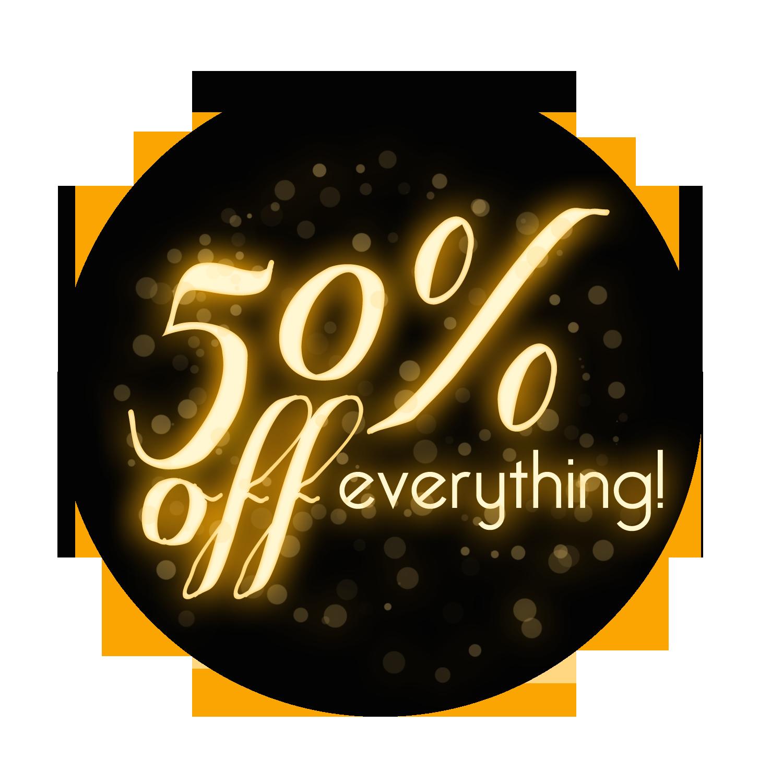50% - Sale HD PNG