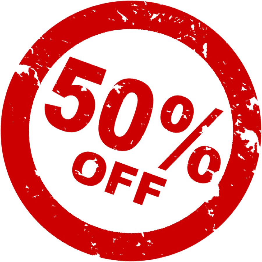 50% Off Discount PNG - Sale HD PNG
