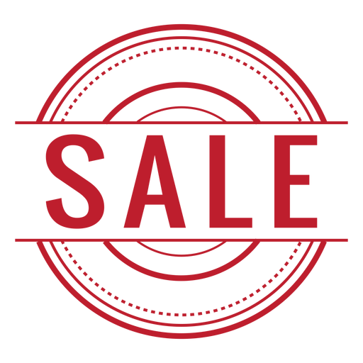 Sale red rounded png - Sale PNG