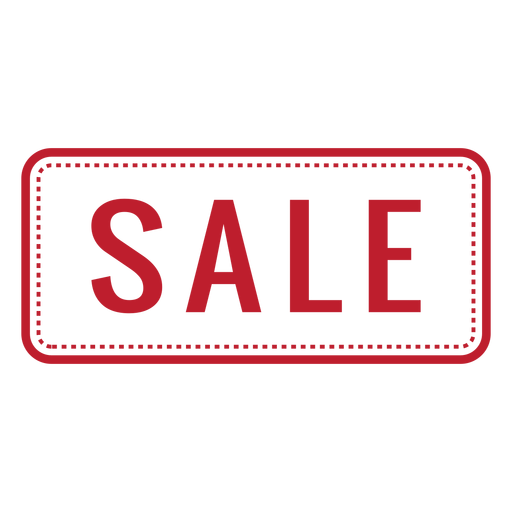 Sale red rounded rectangle png - Sale PNG