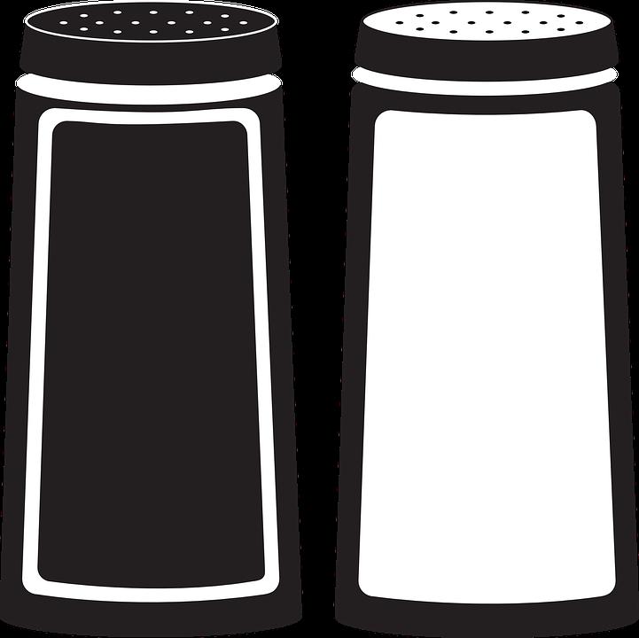 biber tuz baharat tuzluk çalkalayıcı tuz mahzeni - Salt PNG Black And White