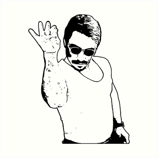 Salt Bae - Black/White by coffeemug - Salt PNG Black And White