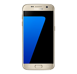 Front view of gold platinum Galaxy S7 PlusPng.com  - Samsung HD PNG