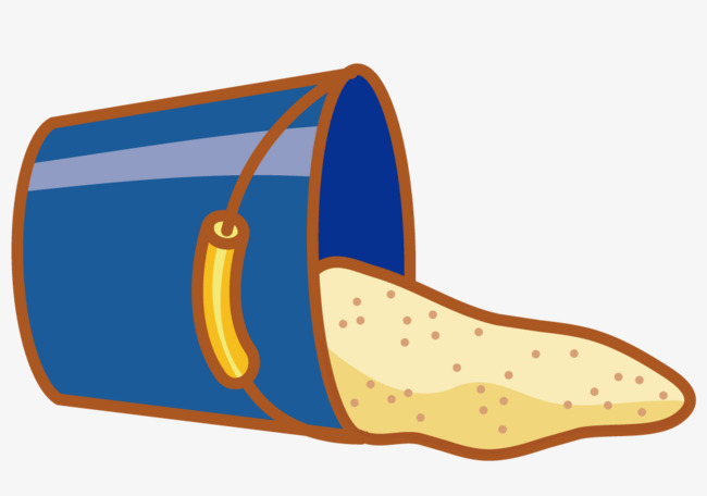 pouring sand bucket, Sand, Drum, Cartoon PNG and Vector - Sand Art PNG