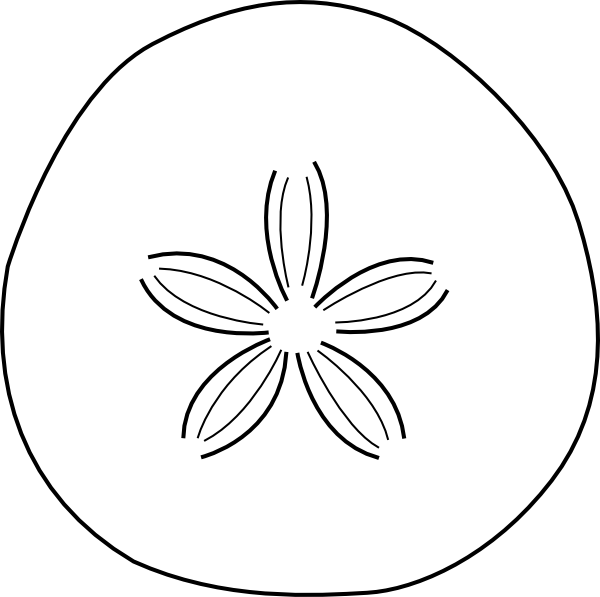 Sand Dollar PNG Black And White