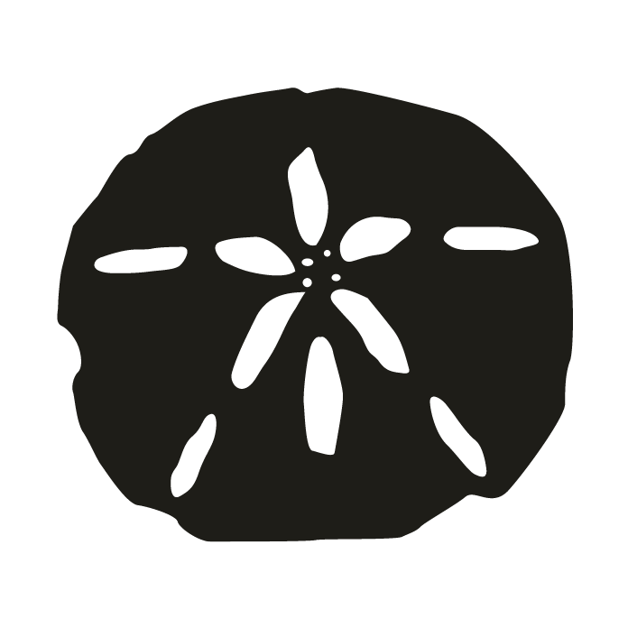 smock-sand-dollar-motif - Sand Dollar PNG Black And White