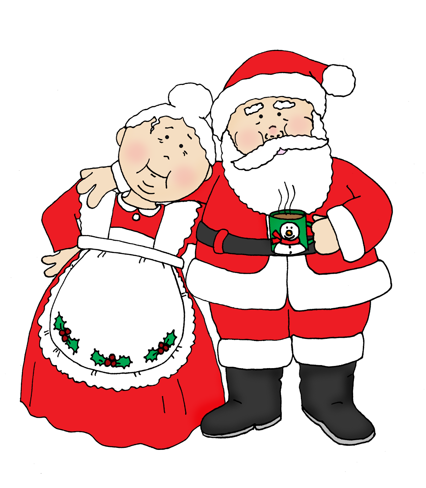 Santa And Mrs Claus PNG