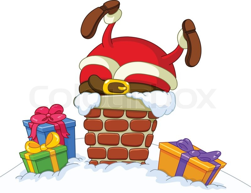 Santa Chimney PNG HD-PlusPNG.com-800 - Santa Chimney PNG HD