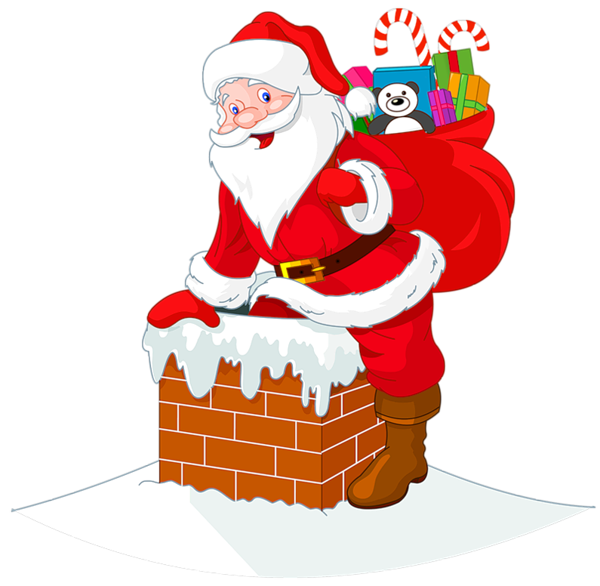 Buy Santa Claus Descends the Chimney by Dazdraperma on GraphicRiver.  Illustration of Santa Claus descends the chimney. - Santa Chimney PNG HD