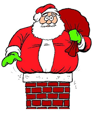 fat santa clipart - Santa Chimney PNG HD