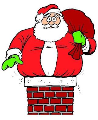 fat santa clipart - Santa Chimney PNG HD