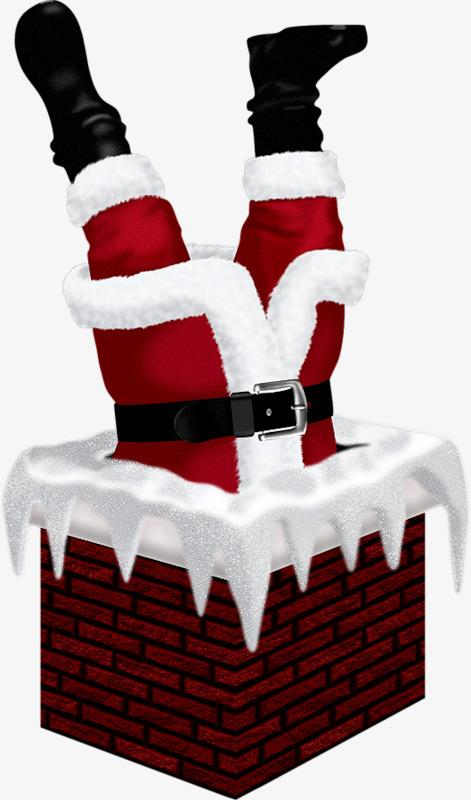 Santa chimney, Chimney, Santa Claus, Joyous Free PNG Image - Santa Chimney PNG HD