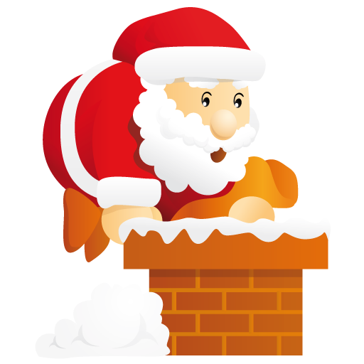 Santa-chimney icon. PNG File: 512x512 pixel - Santa Chimney PNG HD