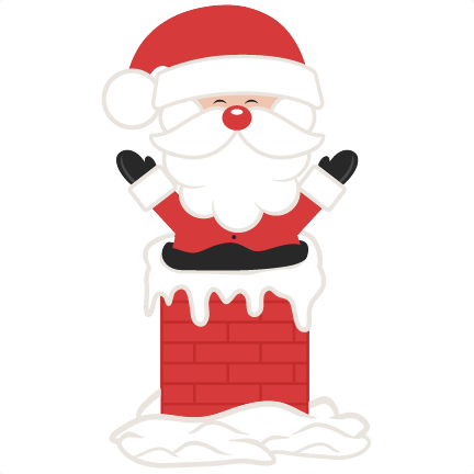 Santa In Chimney SVG scrapbook cut file cute clipart files for silhouette  cricut pazzles free svgs free svg cuts cute cut files - Santa Chimney PNG HD
