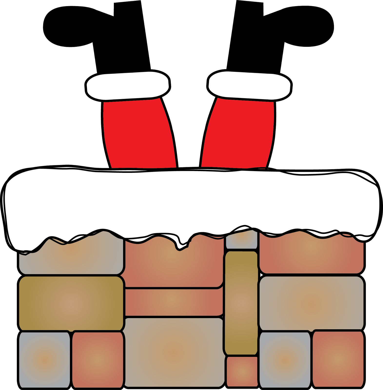 Santa Stuck In Chimney Clipart · Donu0027t Get Stuck! Freebies and More! - Santa Chimney PNG HD