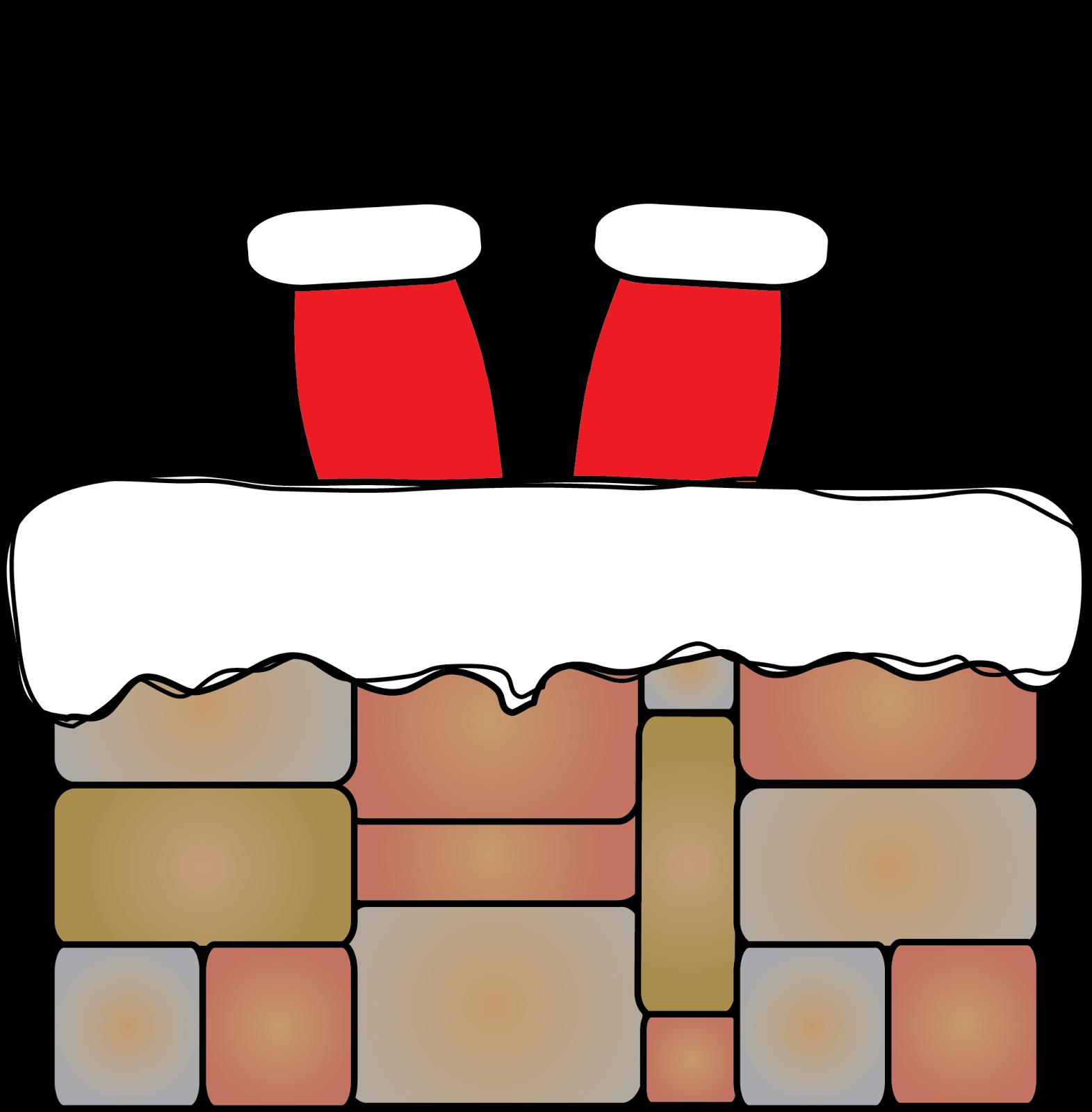 Santa Stuck In Chimney Clipart · Donu0027t Get Stuck! Freebies and More! - Santa Chimney PNG HD