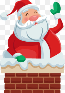 Vector chimney Santa Claus, Chimney, Snow, Santa Claus PNG and Vector - Santa Chimney PNG HD