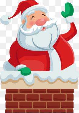 Vector chimney Santa Claus, Chimney, Snow, Santa Claus PNG and Vector - Santa Chimney PNG HD