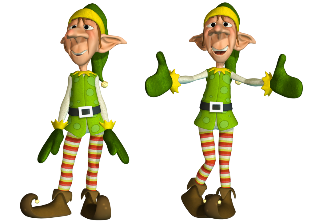 Christmas Elf PNG Stock by Roy3D PlusPng.com  - Santas Elves PNG