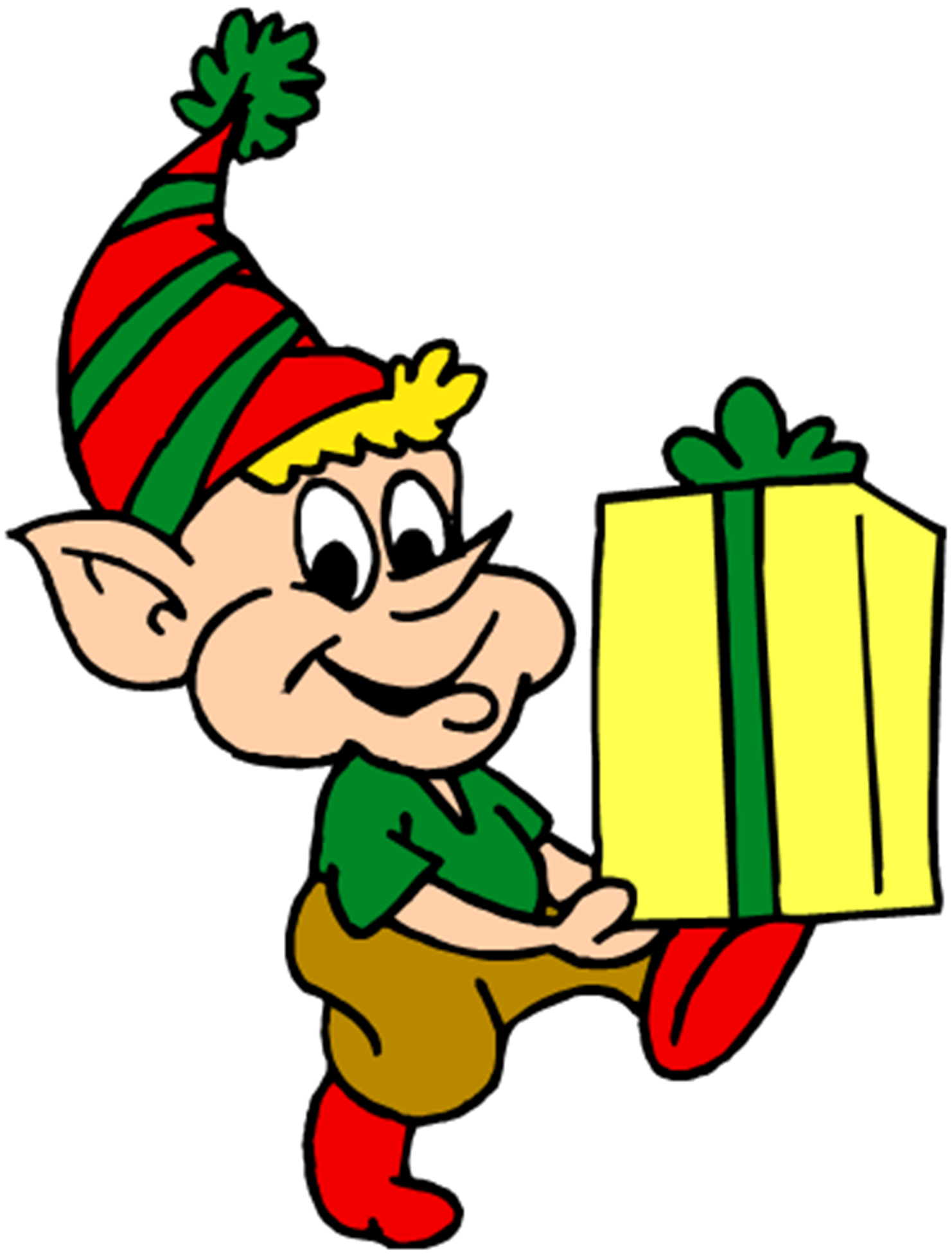 Santa Trusts Only One Elf to Deliver His Presents This Christmas - Santas Elves PNG