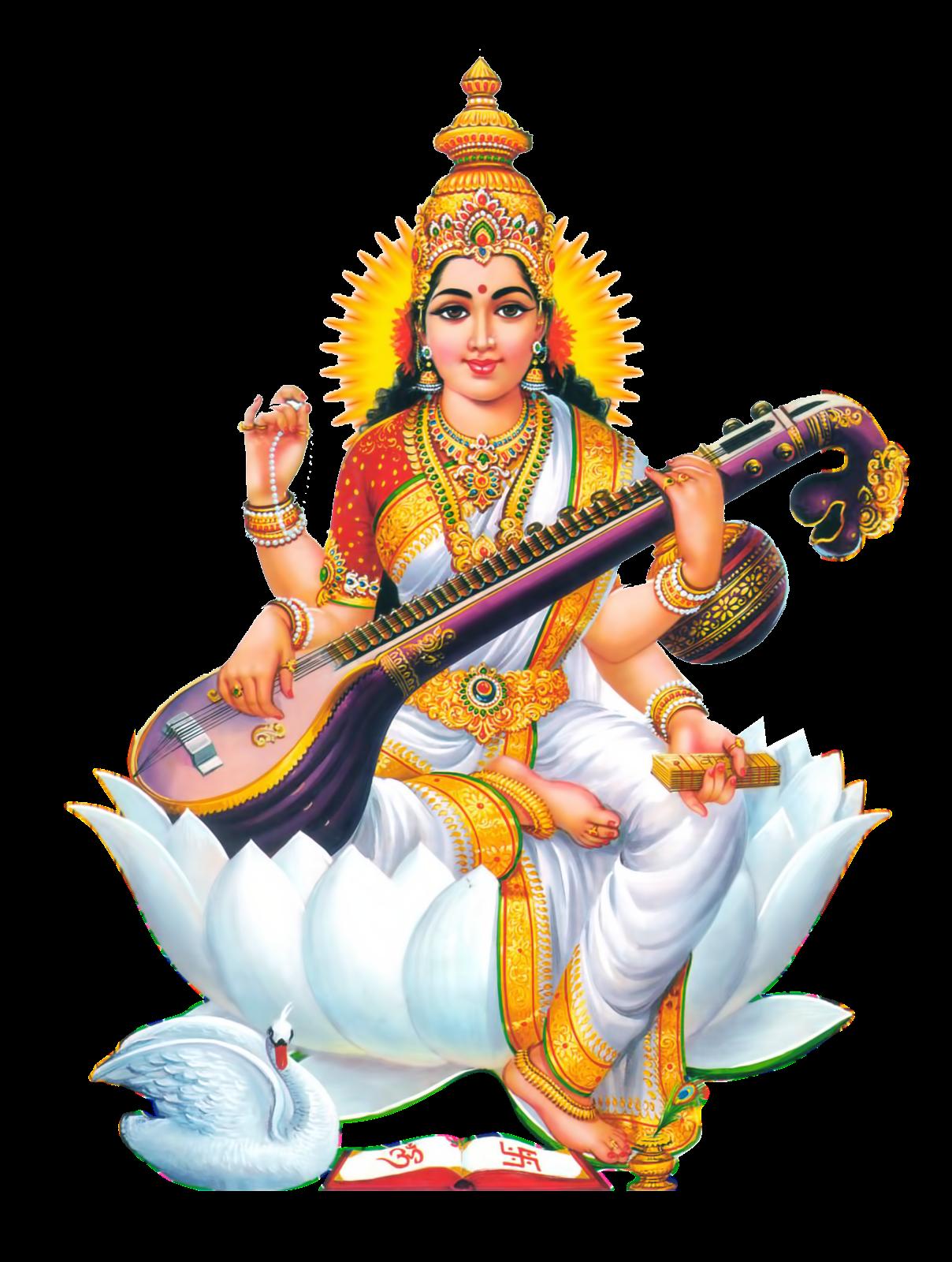 Goddess-Saraswati-Free-HD-PNG-vector-photo-images- - Saraswati HD PNG