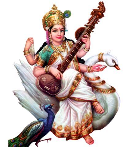 Goddess Saraswati Maa - Saraswati HD PNG