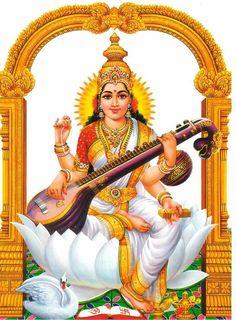 Hindu God Wallpapers For Mobile Phones, God Images HD Photos - Saraswati HD PNG