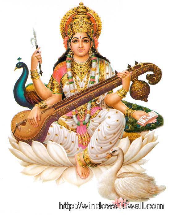 Maa Saraswati Hindu God Picture - Saraswati HD PNG