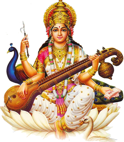 Saraswathi Devi - Godess of Fine-Arts u0026 Knowledge PlusPng.com  - Saraswati HD PNG